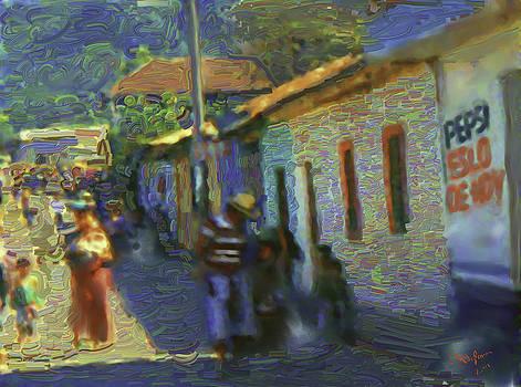 Guatemalan Scene Painter by Elizabeth Iglesias