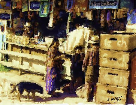 Guatemalan Family Shopping by Elizabeth Iglesias