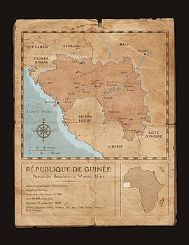 Guinee Map by Dave Kobrenski