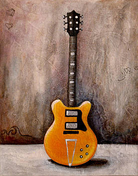 Guitar Orange by Jill English