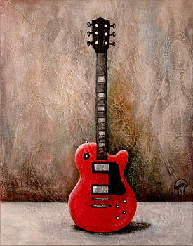 Guitar Red by Jill English