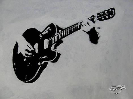 Guitar Silhouette by Apoorv Jain