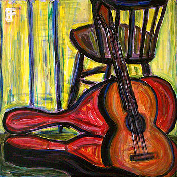 Allen Forrest - Guitar With Case and Chair