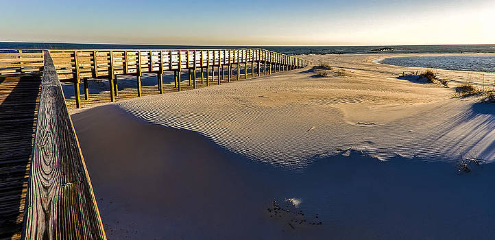 Boardwalk to the Gulf  by Gej Jones