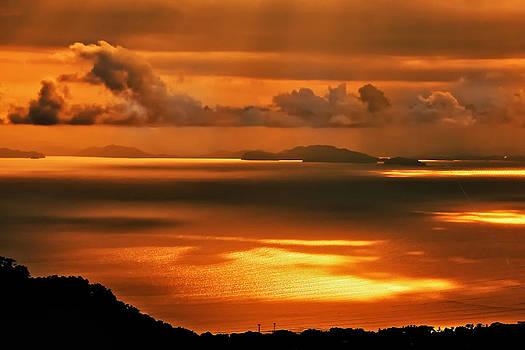 Gulf of Nicoya Sunset by Gary Campbell