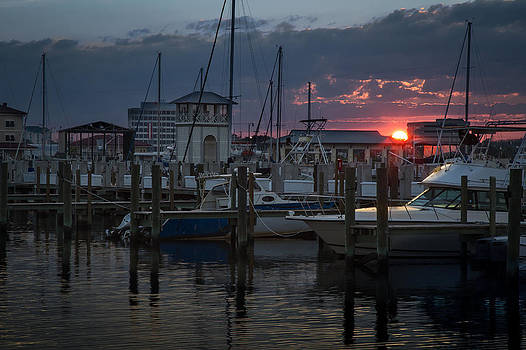 Gulfport Sunset by Ron  Maxie