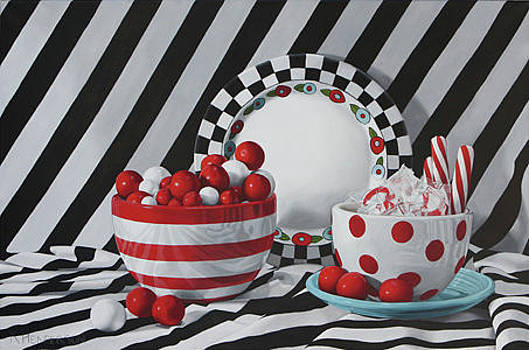Gumballs and Peppermint - still life by K Henderson