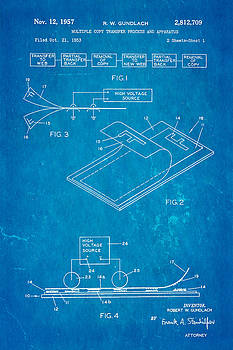 Ian Monk - Gundlach Photocopier Patent Art 1957 Blueprint