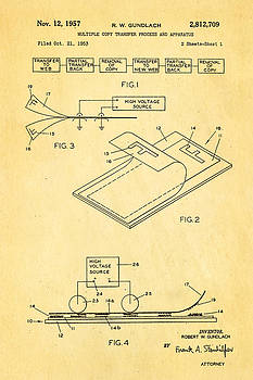 Ian Monk - Gundlach Photocopier Patent Art 1957