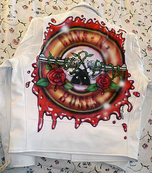 Guns and Roses jacket by Danielle Vergne