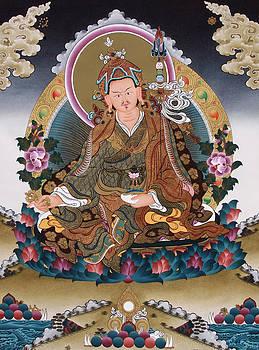 Guru Rinpoche Thangka Art Canvas by Ts