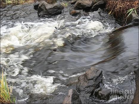 Gushing River Flow Art Print by Spirit Baker
