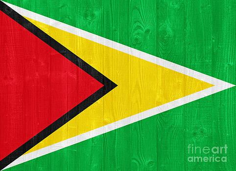 Guyana flag by Luis Alvarenga