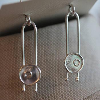 Gyro earrings by Kelly Clower