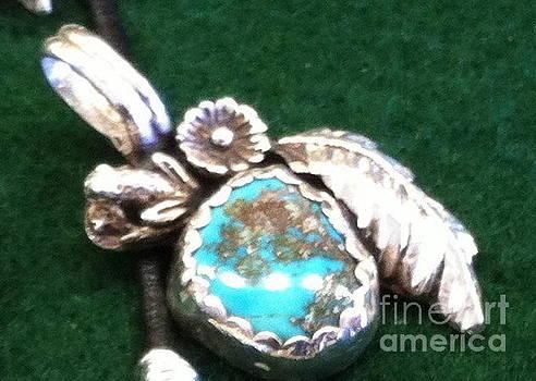 Hachita Turquoise Pendant by Joseph Mora