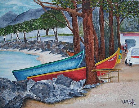 Hacia Parque De Colon by Gloria E Barreto-Rodriguez