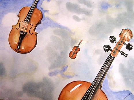 Haeven full of violins by Stephanie Zobrist