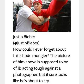 Haha Justin Bieber Made #1 Douchebag On by Steven Black