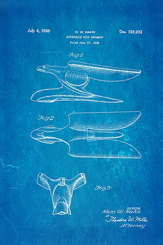 Ian Monk - Hahn Hood Ornament Patent Art 1950 Blueprint