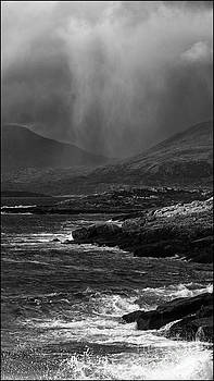 Hail Storm Approaching Luskentyre by George Hodlin