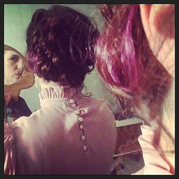 Hair Experiments! #updo #purplehair by Brenda Brolly