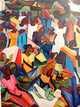 Haitian women. by Haitian artist