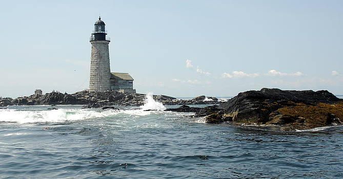 Halfway Rock Light Maine by Rick Frost