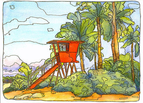 Stacy Vosberg - Haleiwa Lifeguard Tower 2