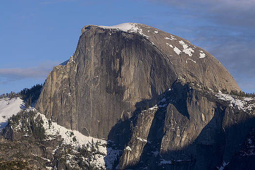 Half dome close up in winter by Richard Berry