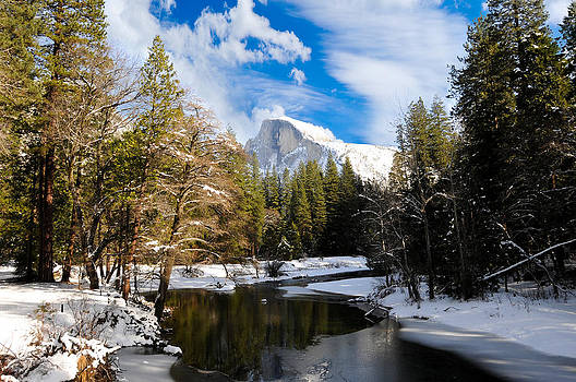 Half Dome In Winter by Bonnie Fink