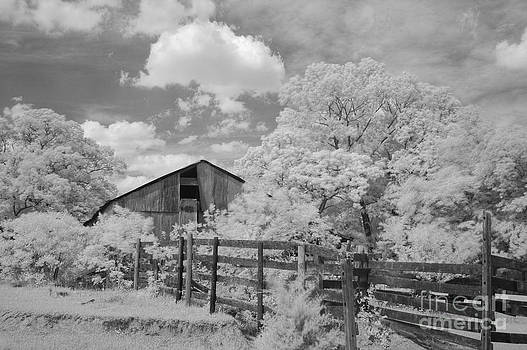 Hall barn infrared by Russell Christie