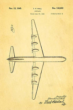 Ian Monk - Hall XC 99 Airplane 2 Patent Art 1945