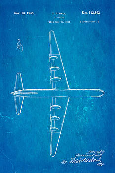 Ian Monk - Hall XC 99 Airplane Patent 2 Art 1945 Blueprint