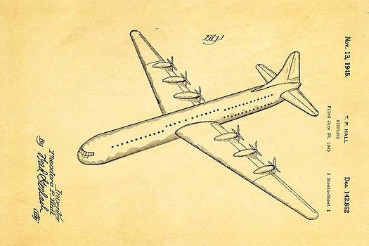 Ian Monk - Hall XC 99 Airplane Patent Art 1945