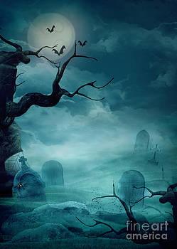 Mythja  Photography - Halloween background - Spooky graveyard