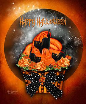 Carol Cavalaris - Halloween Black Cat Cupcake 1