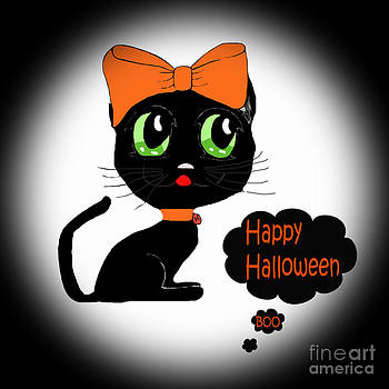 Halloween Black Cat by Eva Thomas