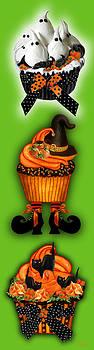 Carol Cavalaris - Halloween Cupcakes - Green