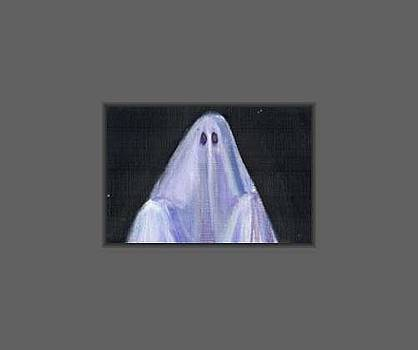Halloween Ghost by Donna Pomponio Theis
