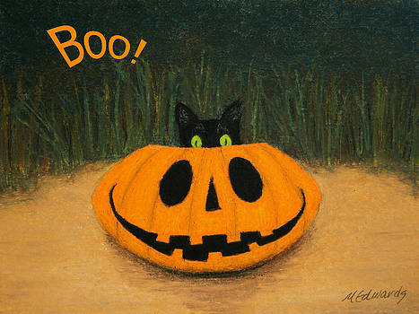 Halloween Kitty Boo by Marna Edwards Flavell