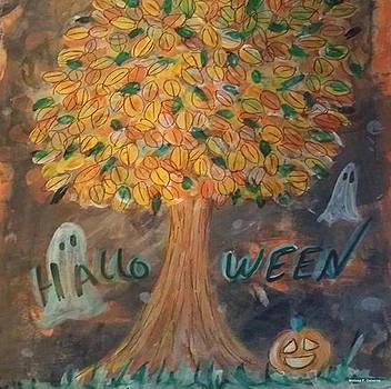 Halloween Scene by Melissa Osborne