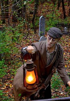 Linda Rae Cuthbertson - Halloween Zombie Graveyard Caretaker