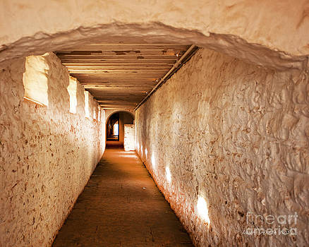 Hallway of Brick and Stone Monticello Virginia by Artist and Photographer Laura Wrede