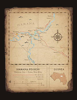 Hamana Region map by Dave Kobrenski