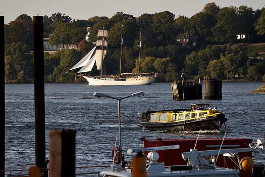 Jay Evers - Hamburg - Barge on River Elbe II