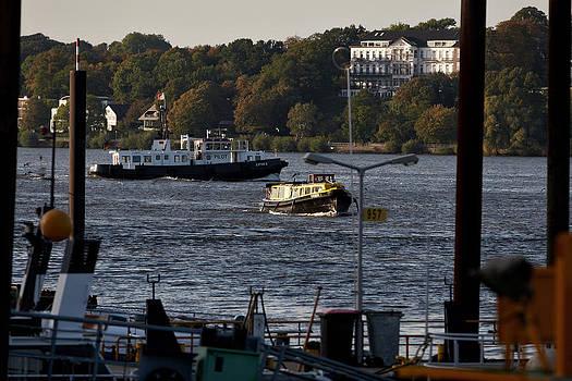 Jay Evers - Hamburg - Barge on River Elbe