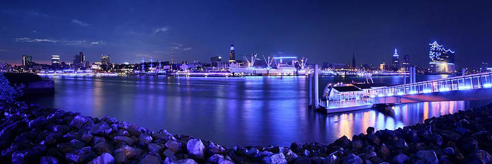 Hamburg Blue Port Panorama by Marc Huebner