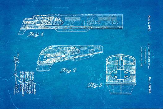 Ian Monk - Hamiton Locomotive Patent Art 1937 Blueprint