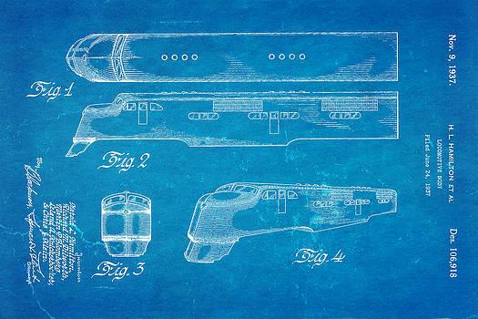Ian Monk - Hamiton Locomotive Patent Art  2 1937 Blueprint