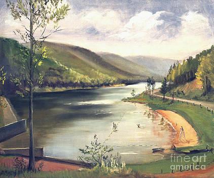 Art By Tolpo Collection - Hamlin Lake Beach 1945